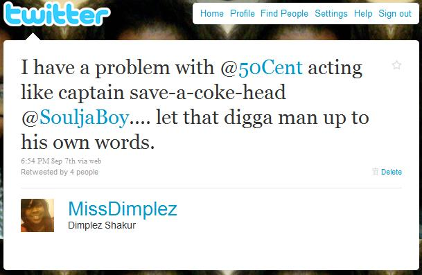 miss dimplez tweet