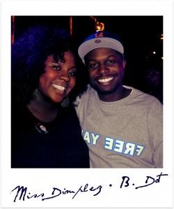 miss dimplez and b dot of rap rapdar