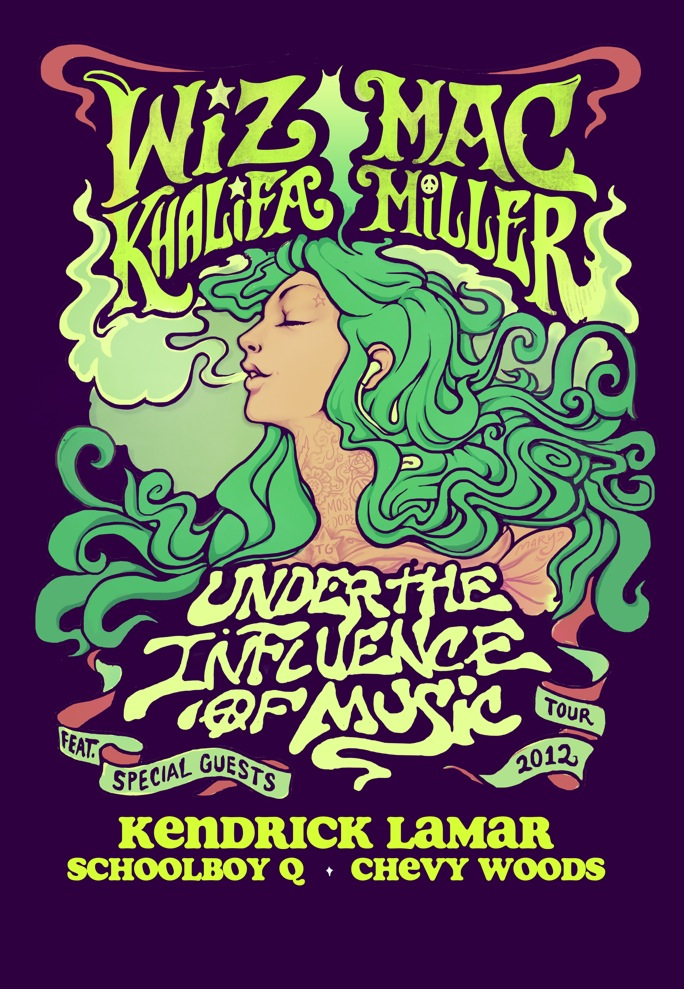 under the influence of music tour wiz khalifa mac miller kendrick lamar schoolboy q chevy woods