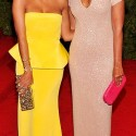 solange knowles and rachel roy at met gala 2012