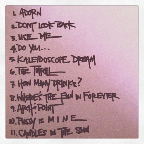 kaleidoscope-dream-tracklist