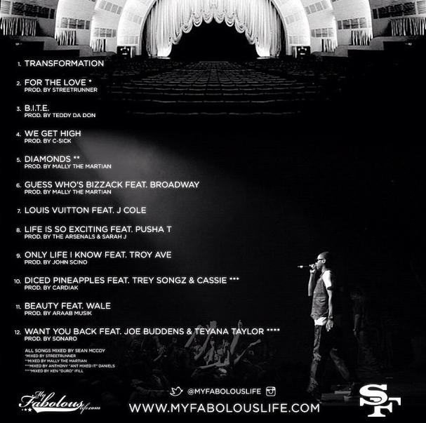 soul tape fabolous tracklist