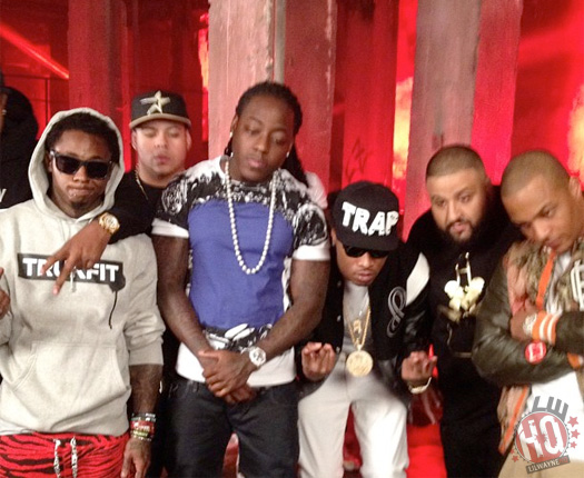 dj-khaled-lil-wayne-future-ti-ace-hood-models-bottles-video-shoot