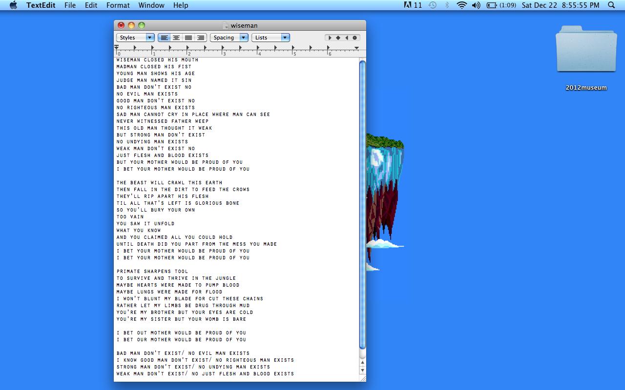 wiseman frank ocean lyrics