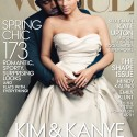 kim kardashin and kanye west vogue 2014