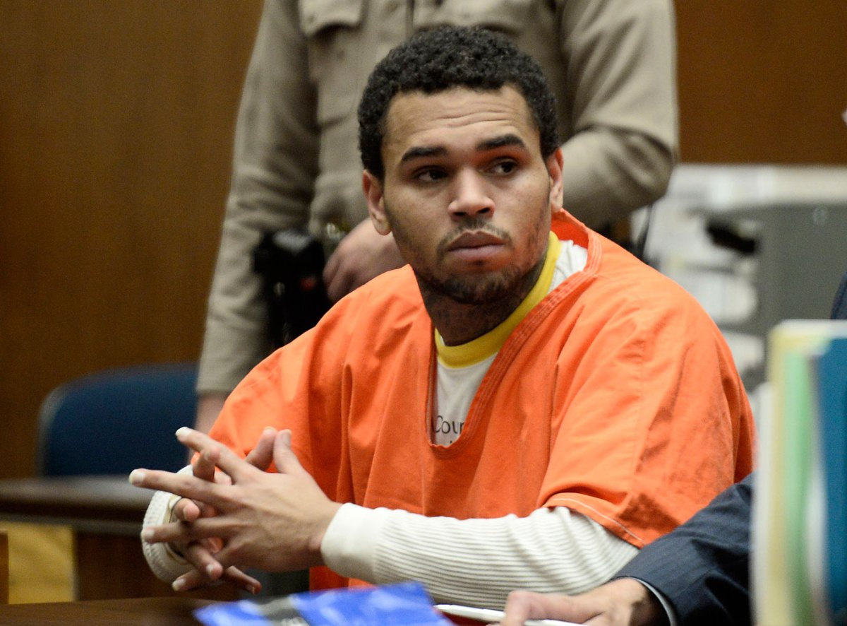 chris brown finally released from jail