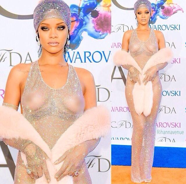 Opinion cfda awards rihanna dress see through you