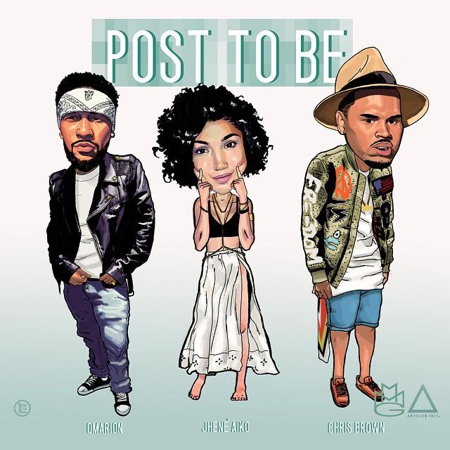 omarion jhene aiko chris brown post to be missdimplez
