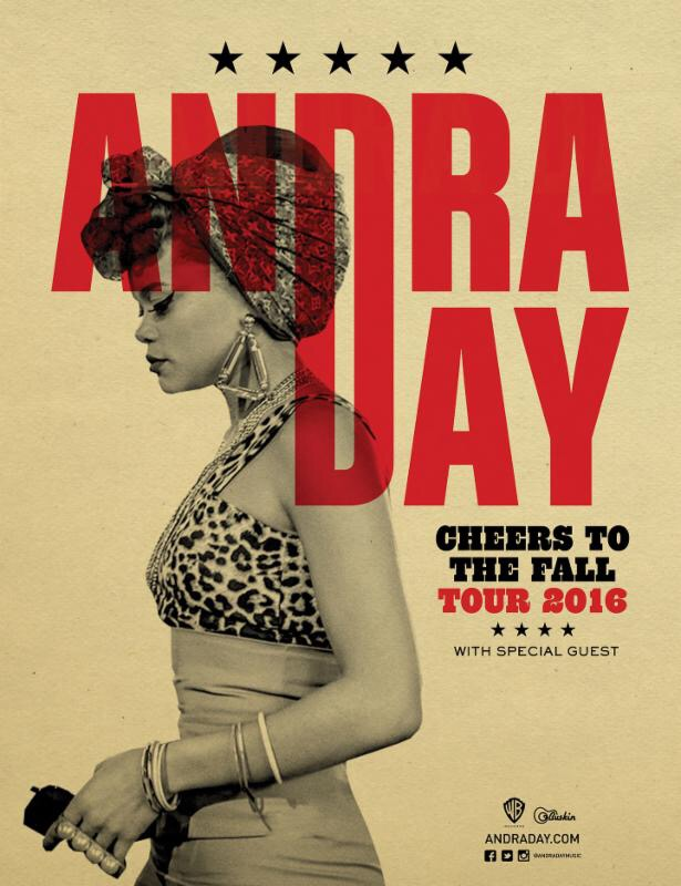 ANDRA DAY ANNOUNCES 'CHEERS TO THE FALL' NORTH AMERICAN TOUR