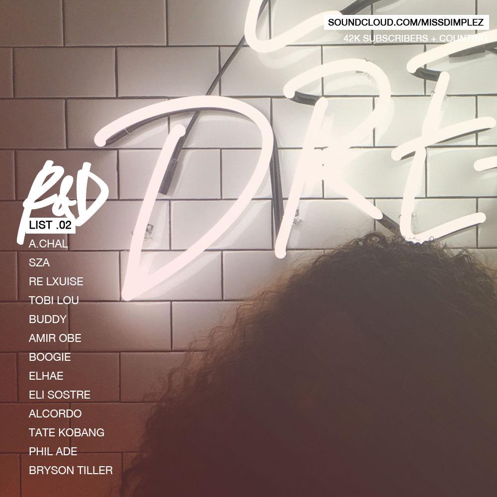 R&D List .02 featuring SZA, Eli Sostre, Amir Obe, ELHAE, Boogie & More
